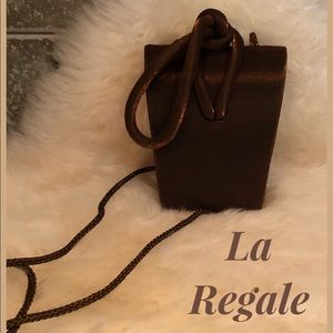 LA REGALE 💛 Tiny Evening Bag in Shimmery Bronze